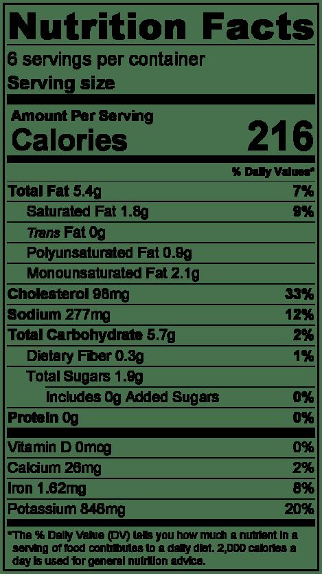 carnitasnutritionlabel