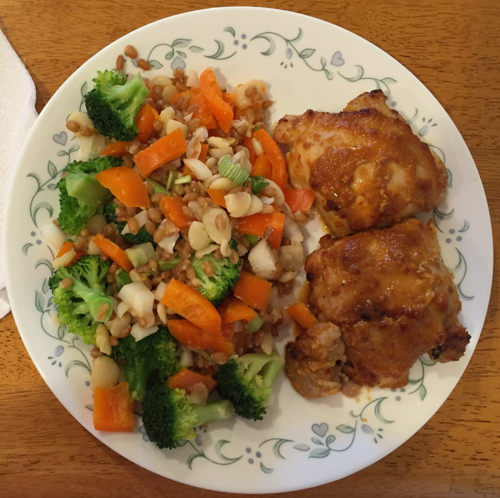 Spicy Ginger Miso Chicken Thighs