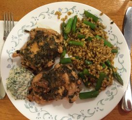 Lemony Basil Chicken With Basil Aioli; Black Pepper Barley With Asparagus & Saffron