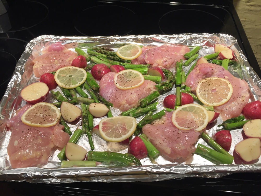 lemony sheet pan chicken 3