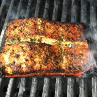 Dilly-Lemon Planked Salmon