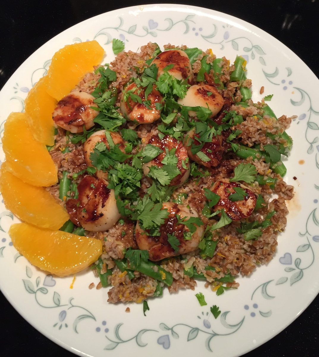 Citrus Scallops With Bulgur