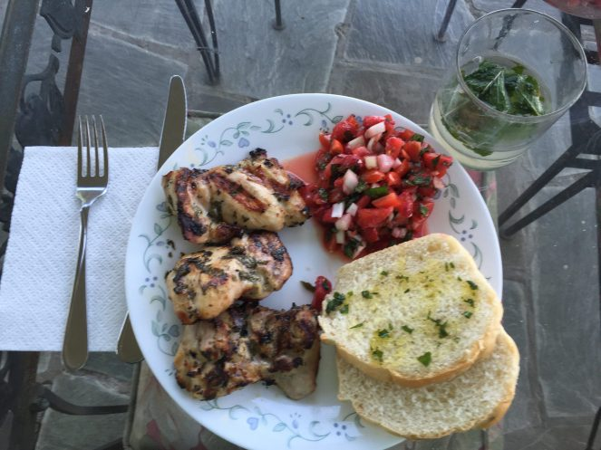 Grilled Mojito Chicken Thighs dinner