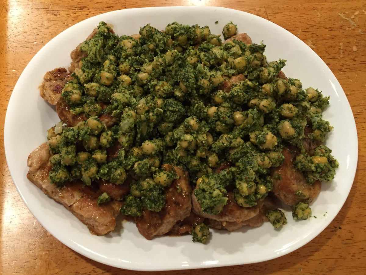 Pork Scaloppine With Dilly Chickpeas