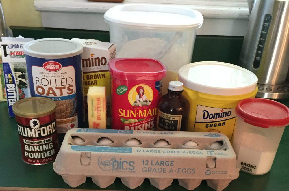 oatmeal cookies ingredients