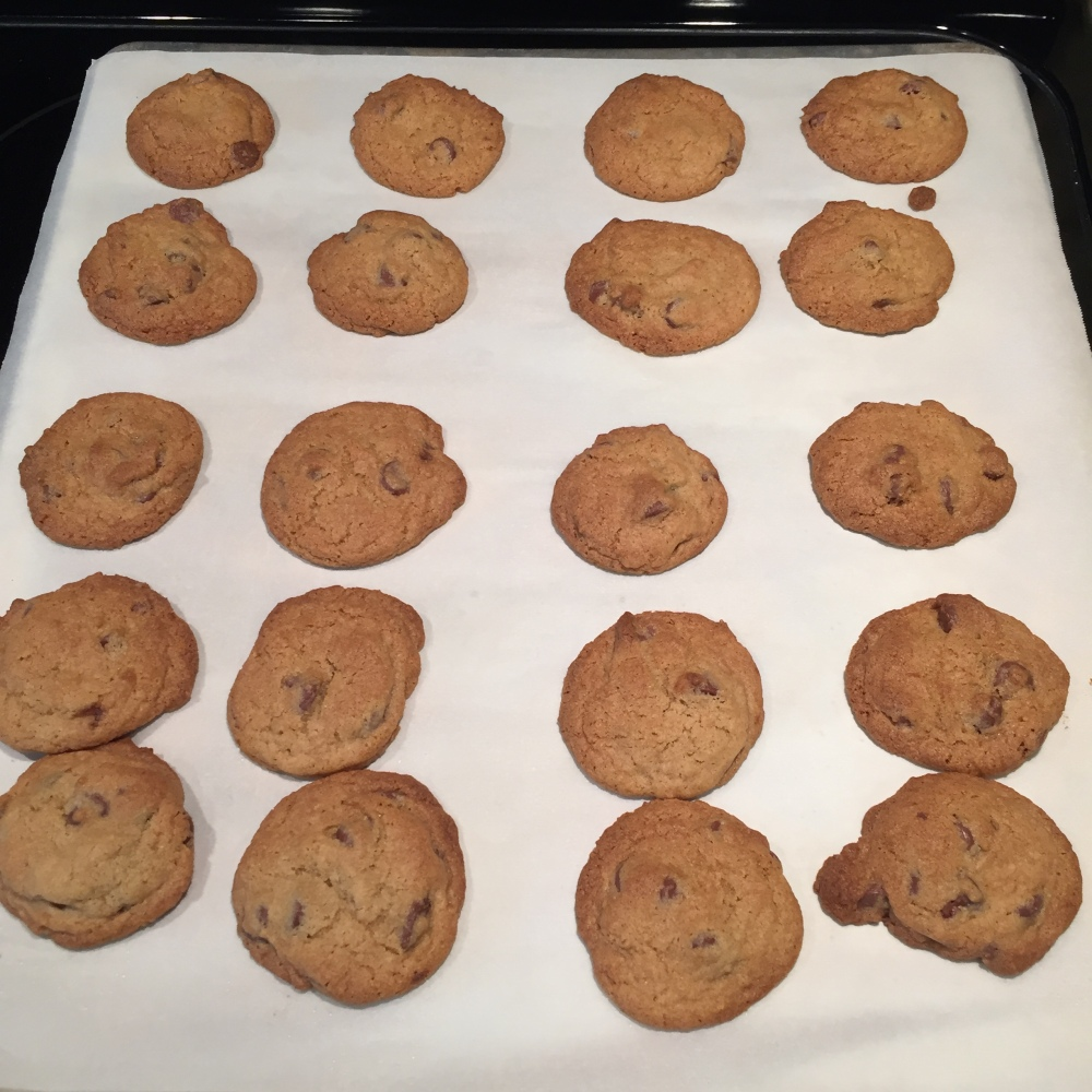 finished choc chip cookies