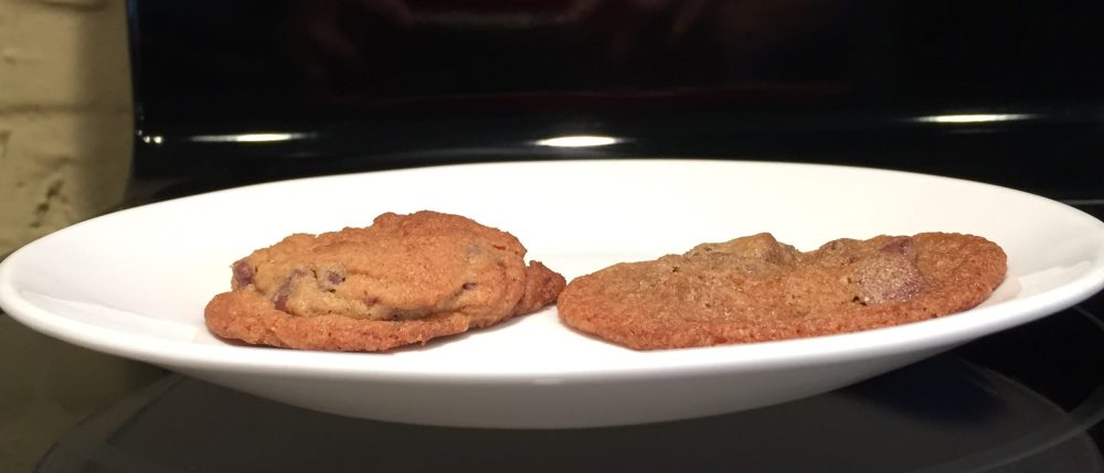 chocolate chip cookies, butter temp