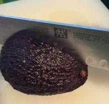 halving avocado