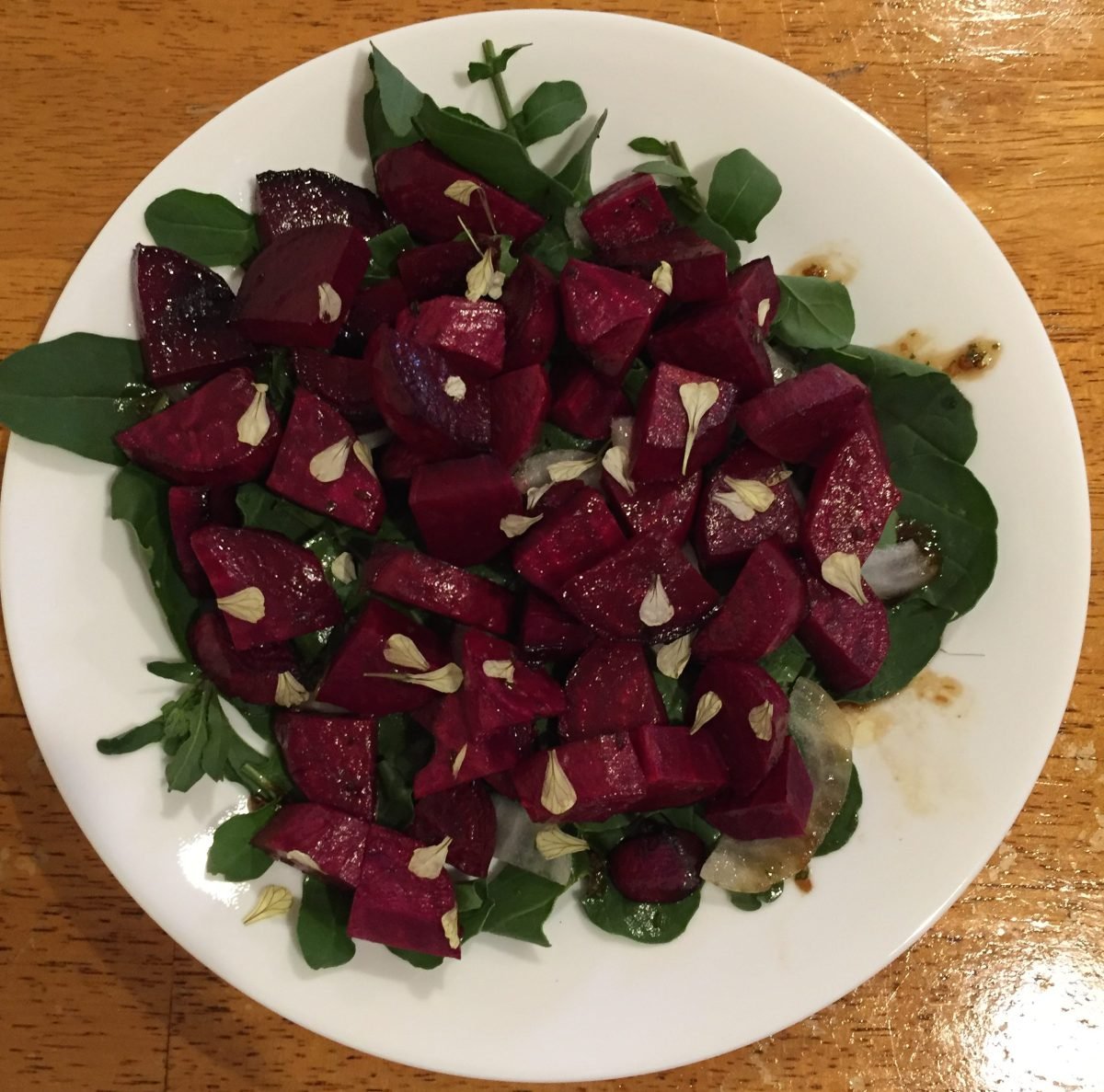 Rosemary-Balsamic Beet and Arugula Salad