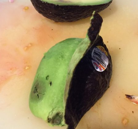 peel avocado