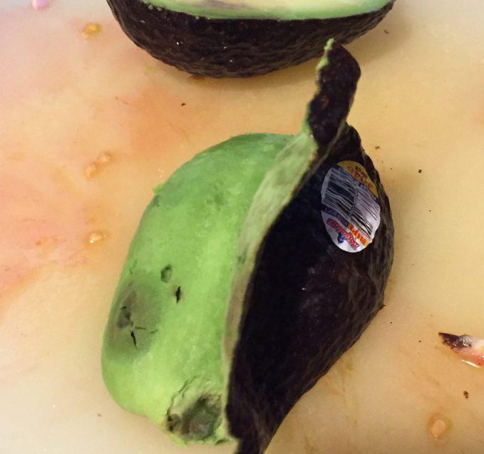 peel avocado