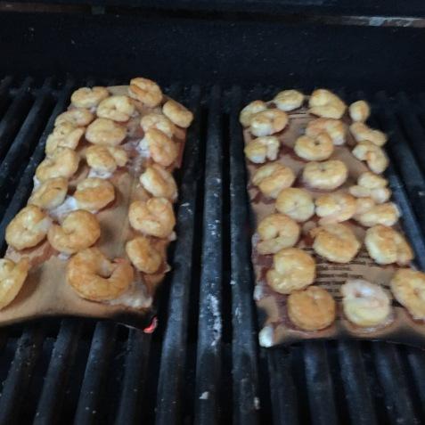 Plank grilled shrimp 2