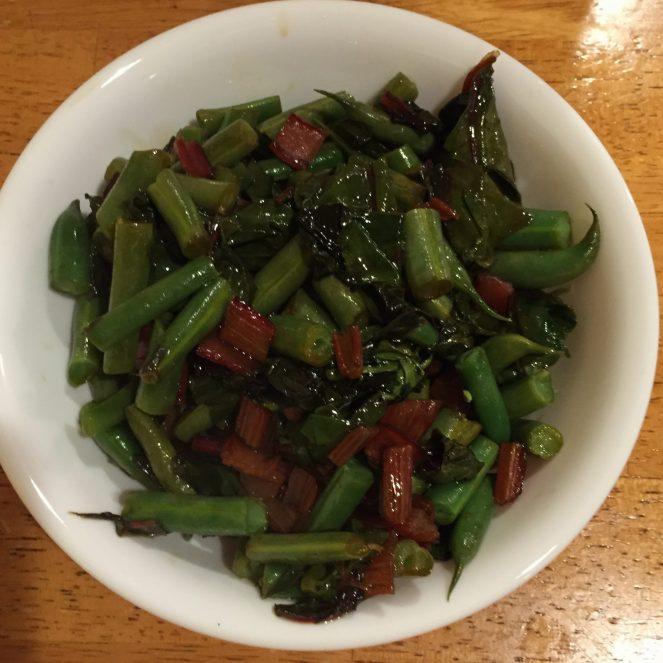 Blueberry-Balsamic Green Beans & Chard