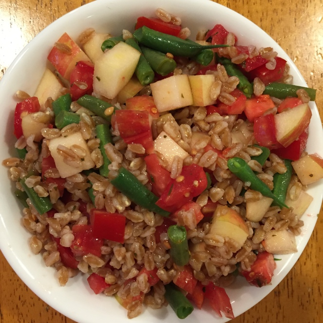 Warm September Farro Salad