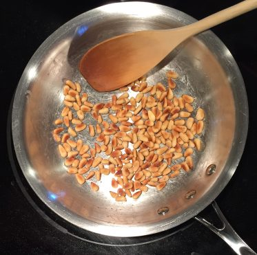 pan-toasted pine nuts