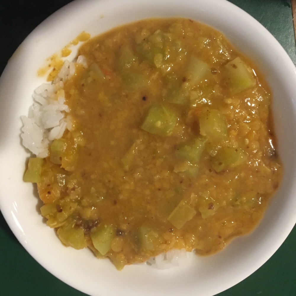 Roopa's Green Tomato & Lentil Stew