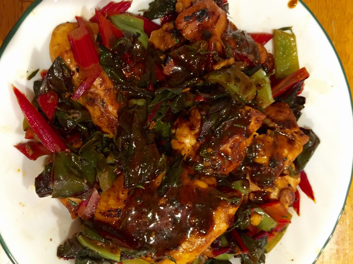 Citrus Chicken With Chard
