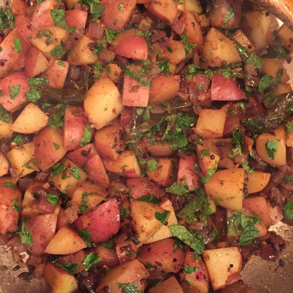 Curry Leaf Potatoes 2