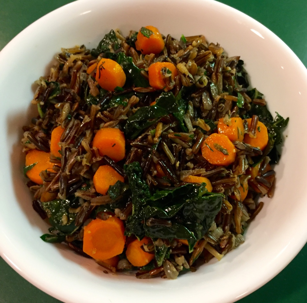 Herbed Wild Rich With Carrots & Kale
