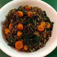 Herbed Wild Rice With Carrots & Kale
