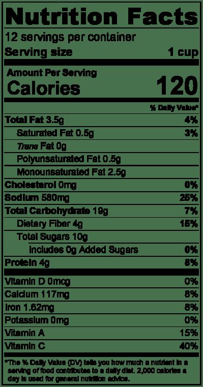 marinaranutritionlabel