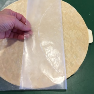 peel the wax paper off