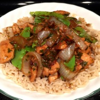 Thai Basil Chicken With Snow Peas & Mint