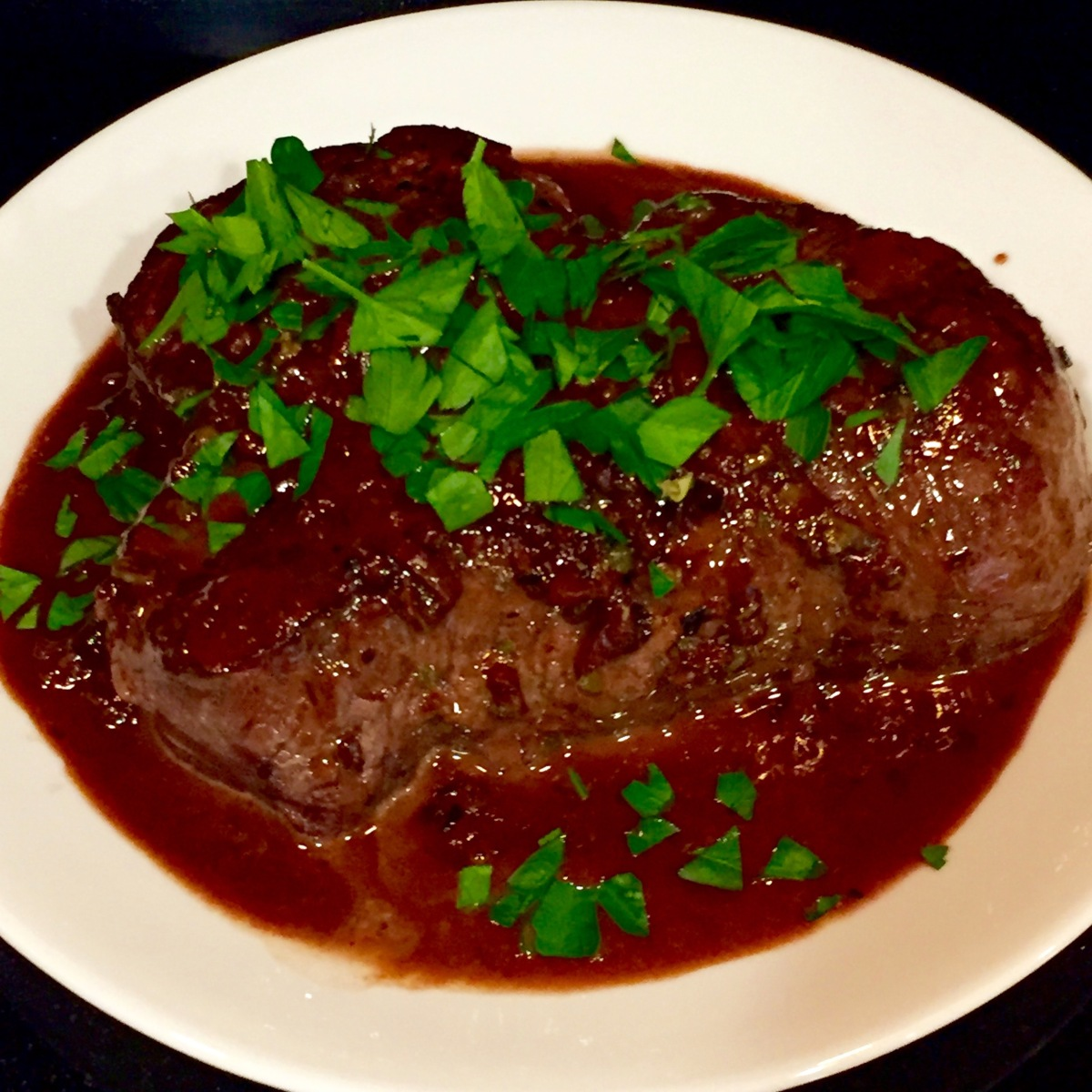 Steak With Red Wine & Shallots