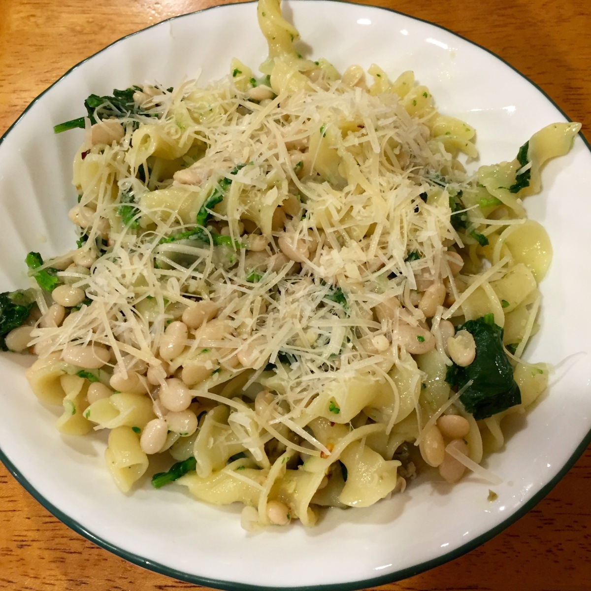 Garlicky Pasta With Beans And Broccoli Rabe Julienne Red