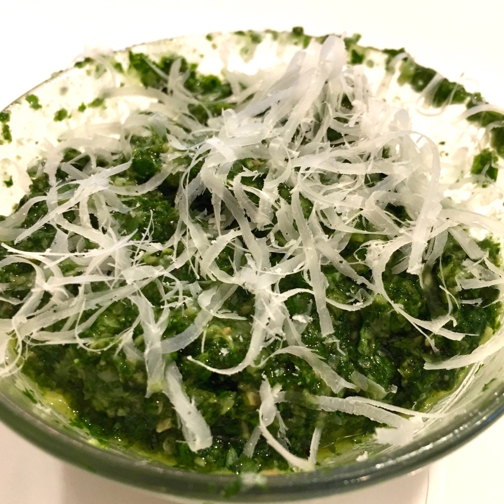 cilantro-mint pesto