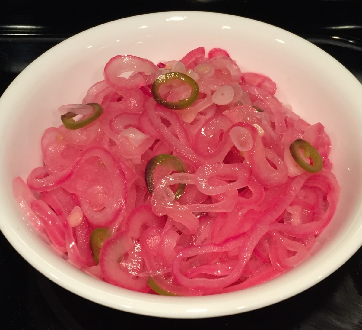 Citrus-Pickled Red Onion With Jalapeño