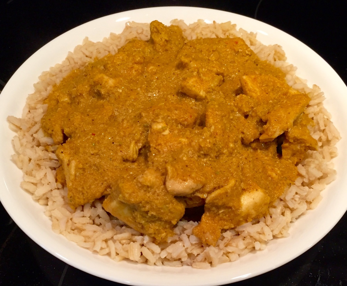 Spicy Peanut Chicken With Rice