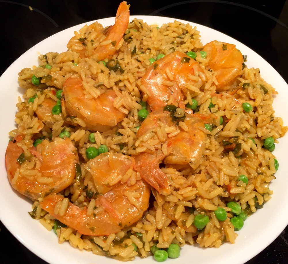 Shrimp with Seasoned Rice (Instant Pot Freezer Meal)