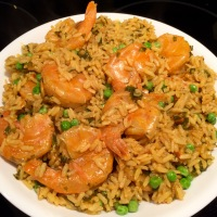 Shrimp with Peas & Seasoned Rice
