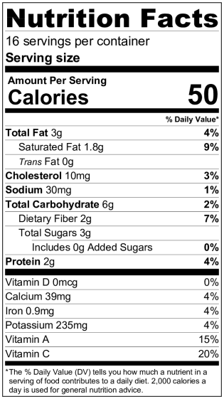 GB without FS NutritionLabel