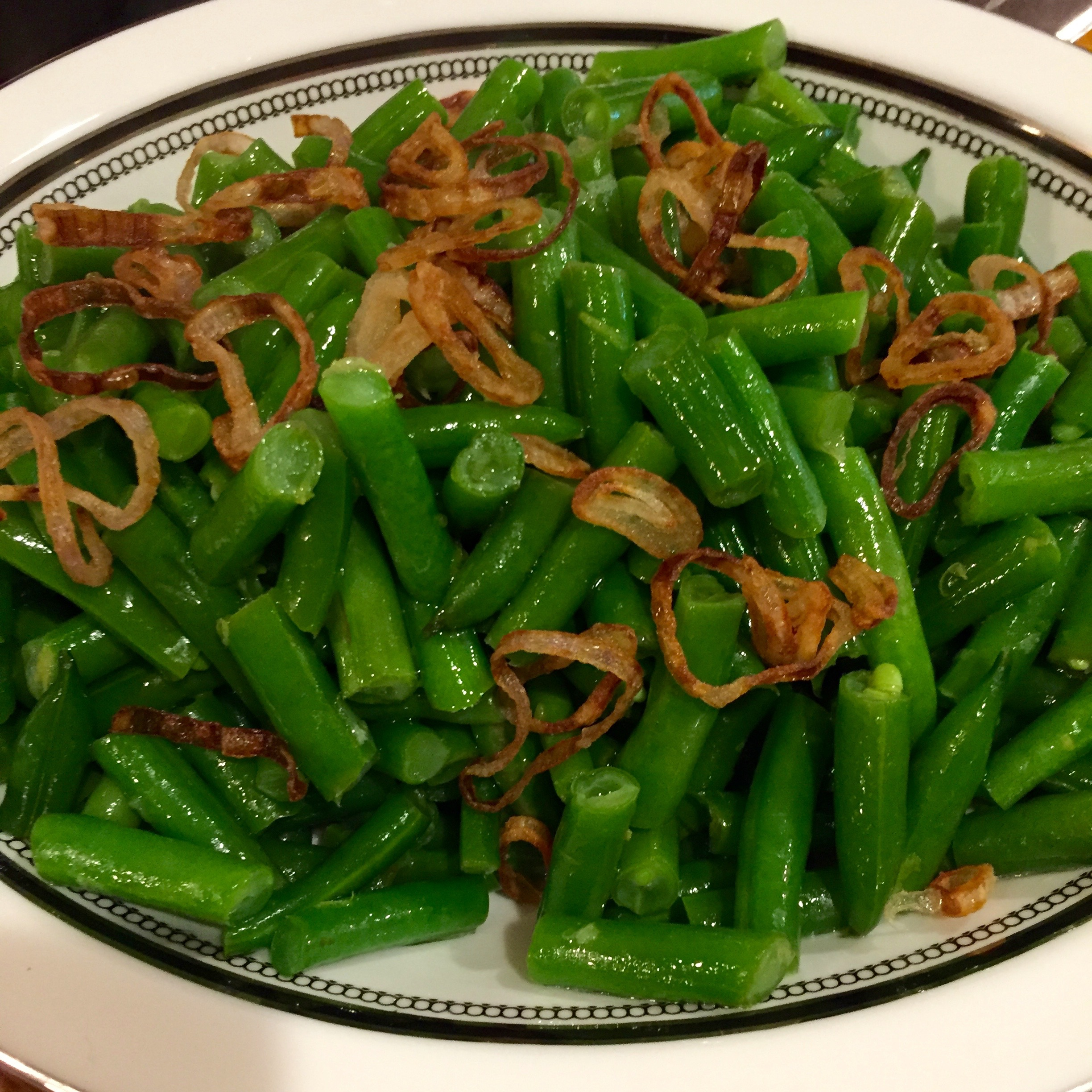 Green Beans with Lemon Butter and Frizzled Shallots photo