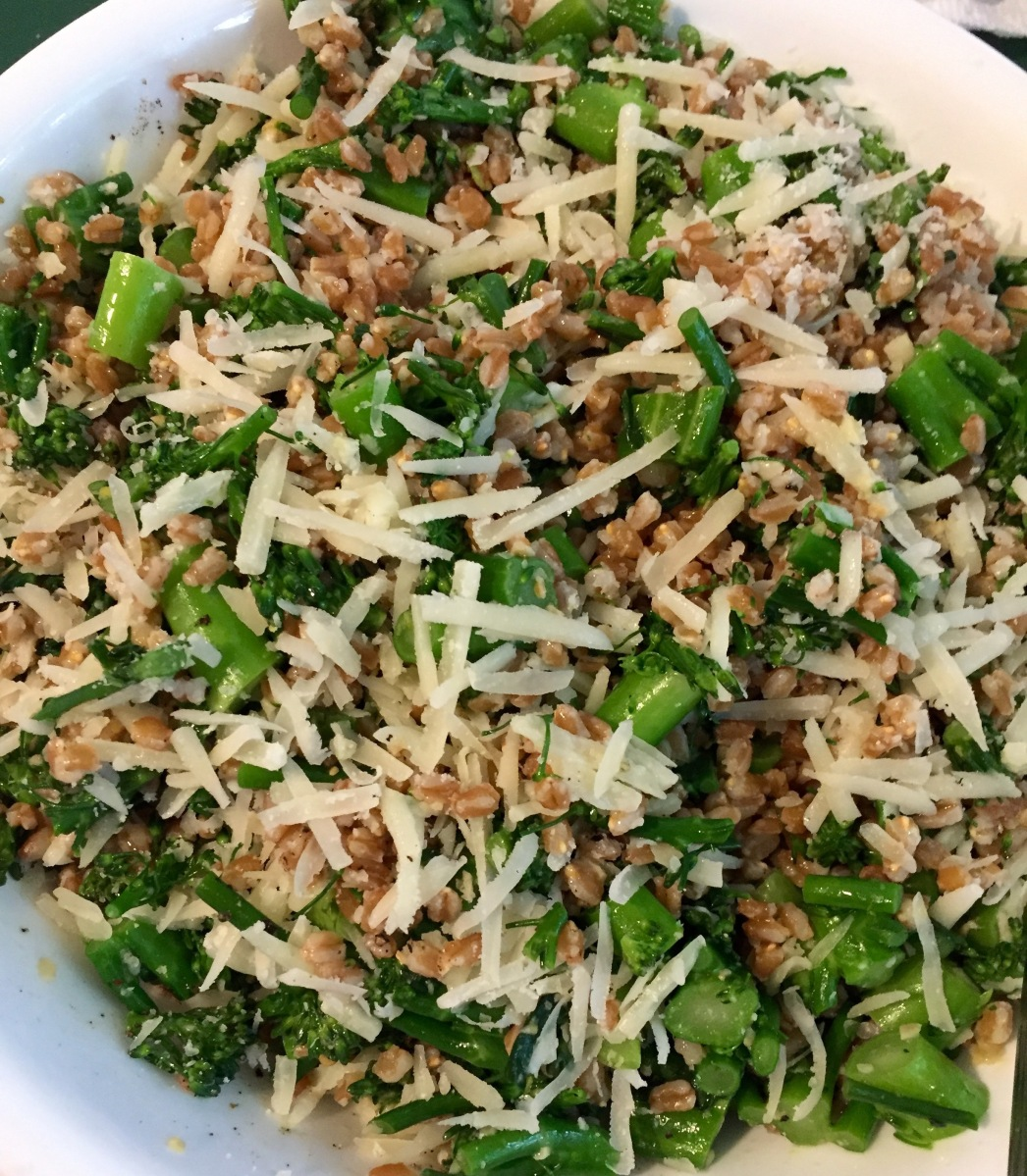 Broccolini Farro Salad