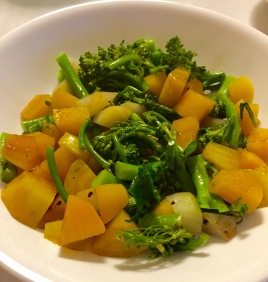 Balsamic Beets With Broccolini