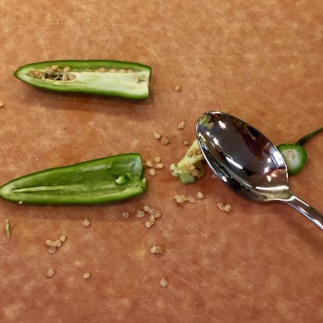 de-seed jalapeno