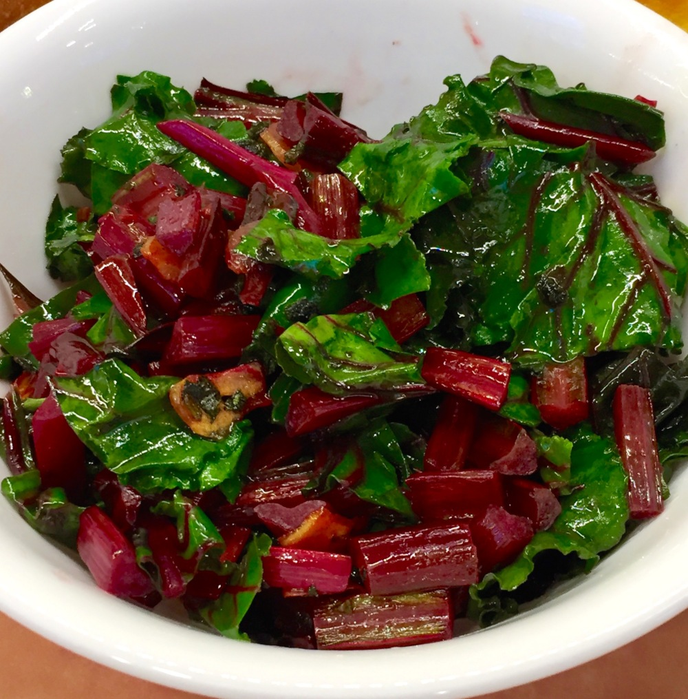 Beet Greens With Garlic and Sage