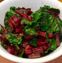 Beet Greens With Garlic and Sage