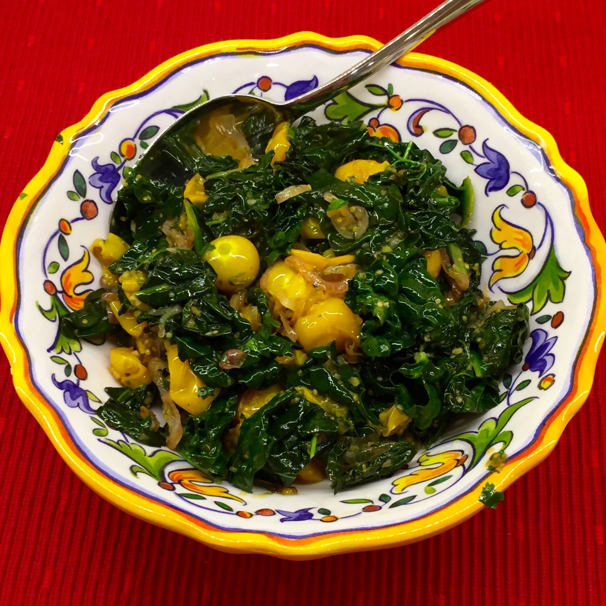 Kale with Golden Gooseberries