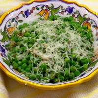 Peas With Shallots & Parmesan