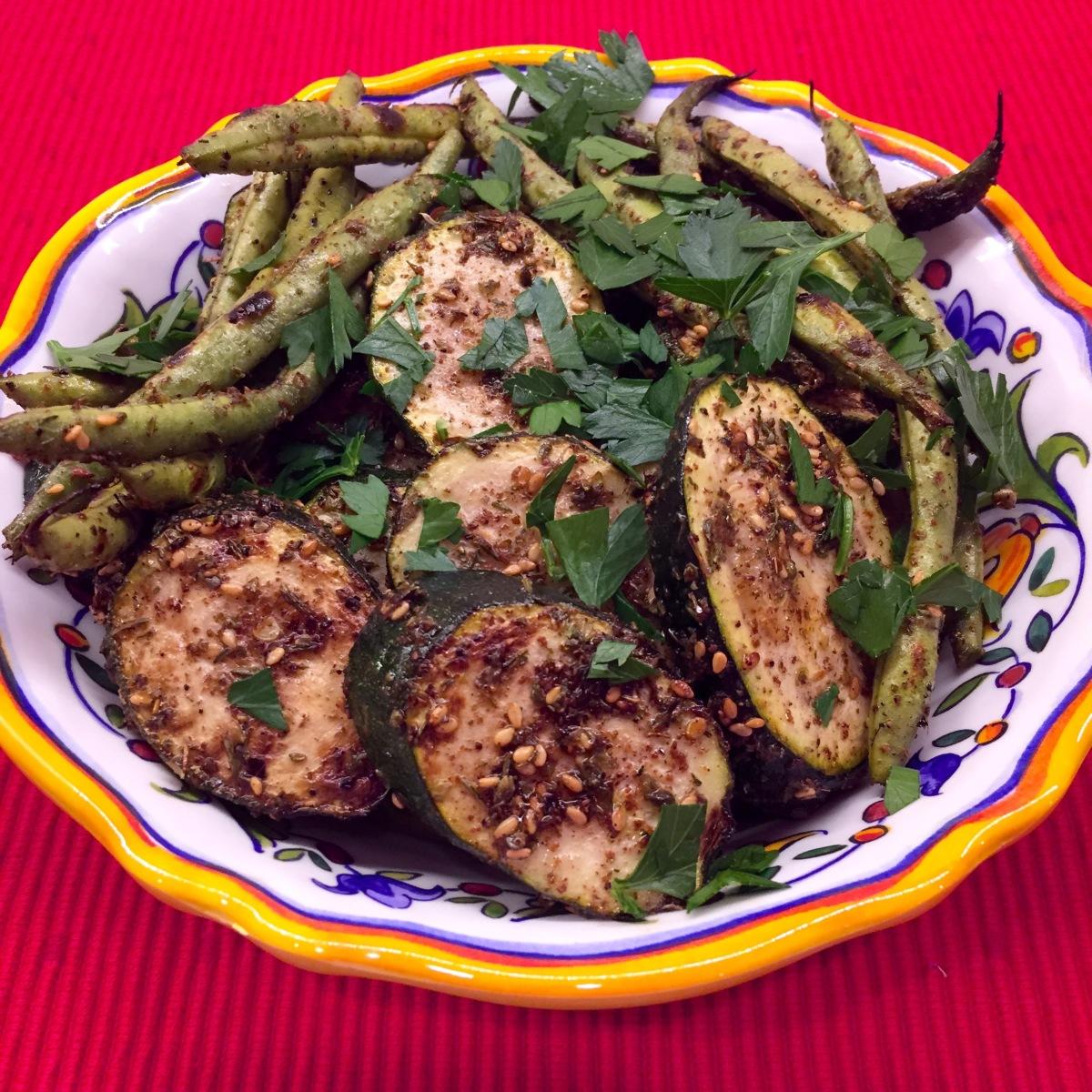 Grilled Za'atar Zucchini