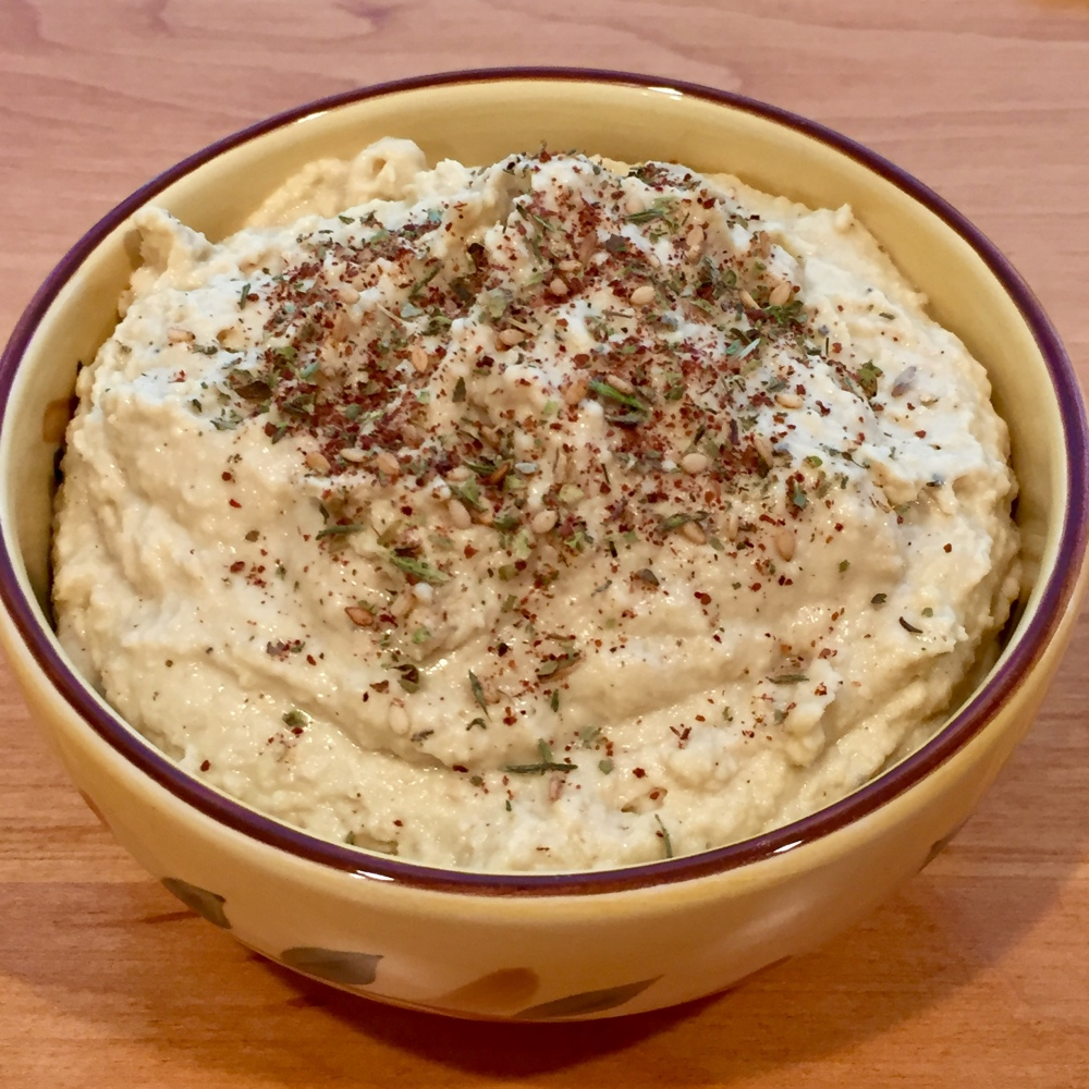 Za'atar on Homemade Hummus
