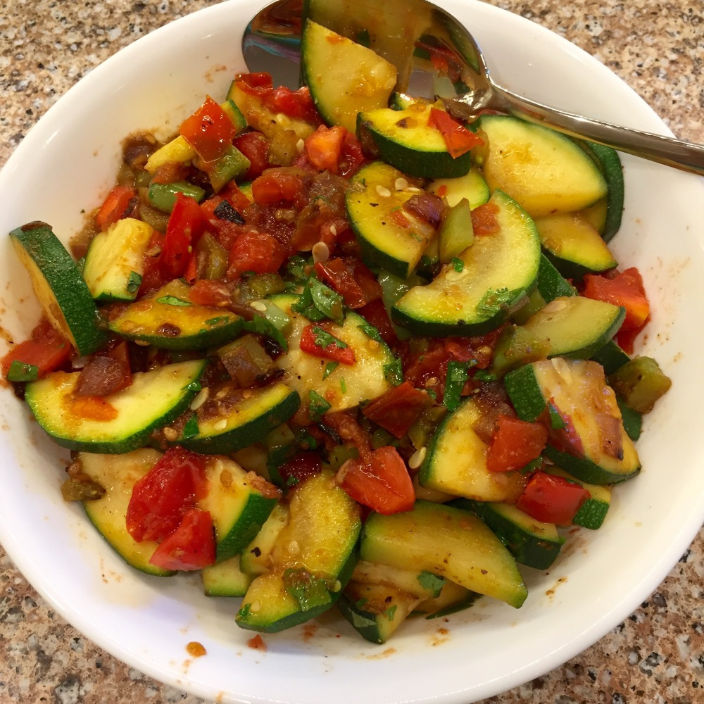 Sautéed Zucchini With Tomatoes