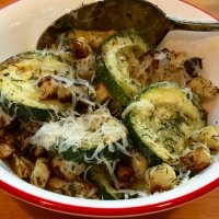 Roasted Herbed Turnips and Zucchini
