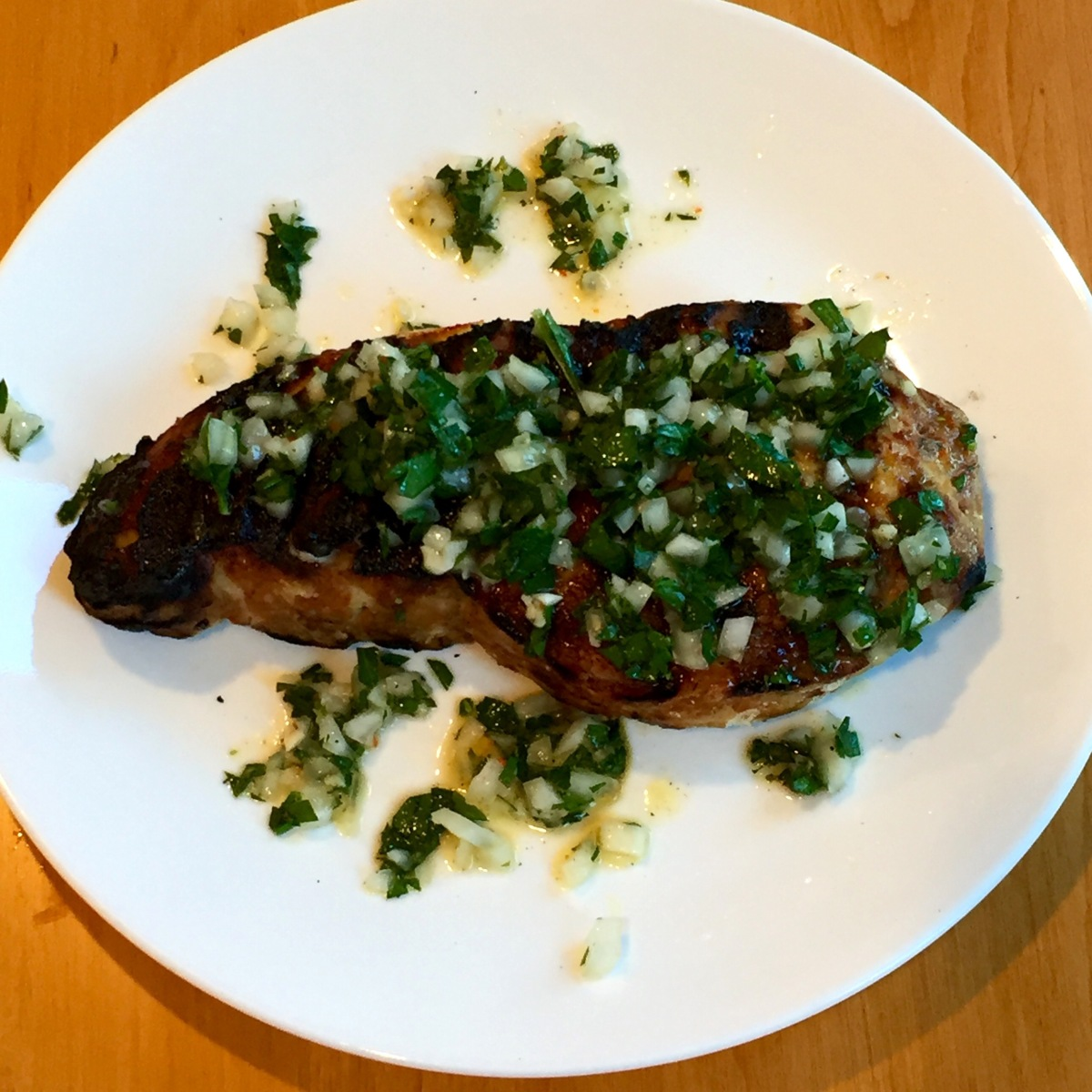 Grilled Opah with Dog Sauce