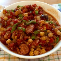 Spicy Garbanzo-Chorizo Stew