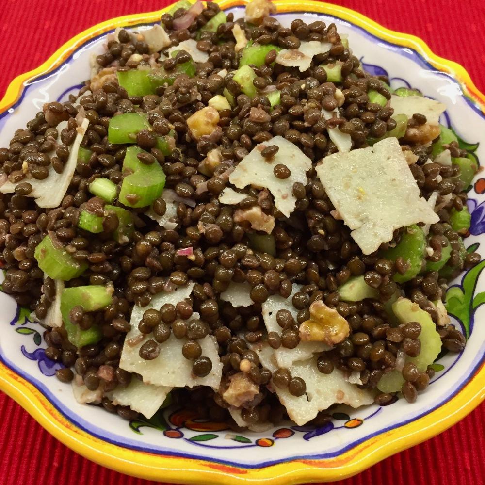 Crunchy Black Lentil Salad